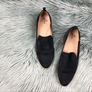 SusIna suede perforated almond toe loafer 9